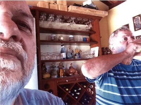 Imagem que, segundo a PF, mostra Paulo Gordilho, arquiteto da OAS, com Lula no sítio de Atibaia