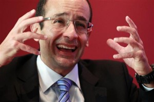 Marcelo Odebrecht, CEO of Brazilian construction group Odebrecht, speaks during an interview with Reuters in Lima