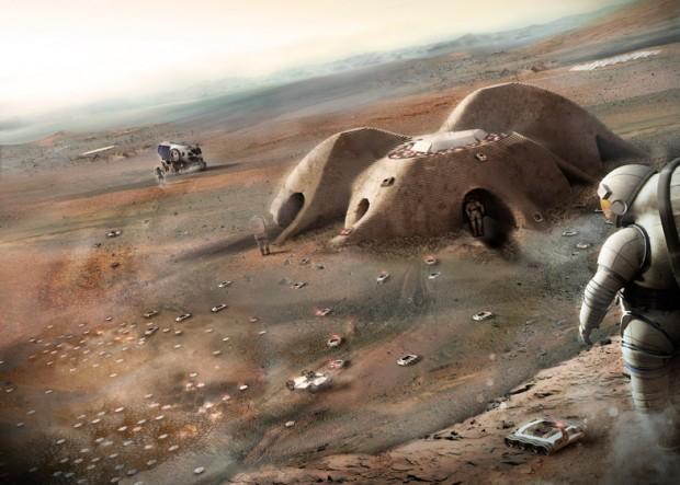 Projeto do arquiteto Norman Foster para acomodar astronautas em Marte