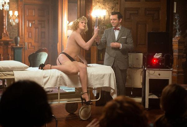 Nicholle e Michael Sheen em cena de 'Masters of Sex' (Foto: Showtime)