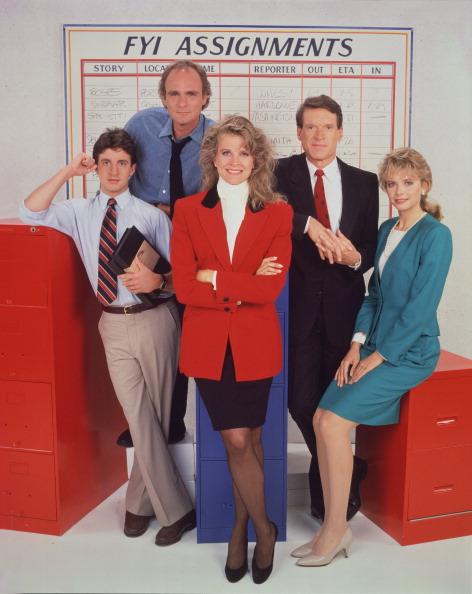 (E-D) Schaud, Regalbuto, Bergen, Kimbrough e Ford em 1988. (Foto: CBS/Arquivo)
