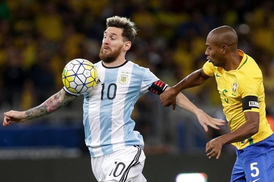 Messi durante a partida contra a Argentina, válida pela 11ª rodada das eliminatórias Sul-Americanas da Copa de 2018, no estádio do Mineirão, na cidade de Belo Horizonte (MG) - 10/11/2016