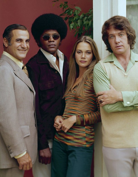(E-D) Tige Andrews, Clarence Williams III, Peggy Lipton e Michael Cole