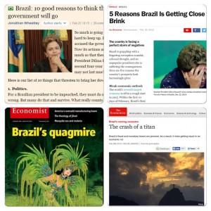 Montagem completa mídia estrangeira contra Dilma