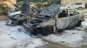 Morteiro palestino carro