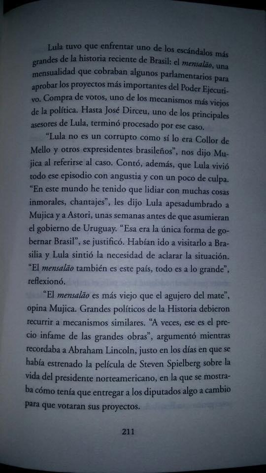 Mujica livro mensalão