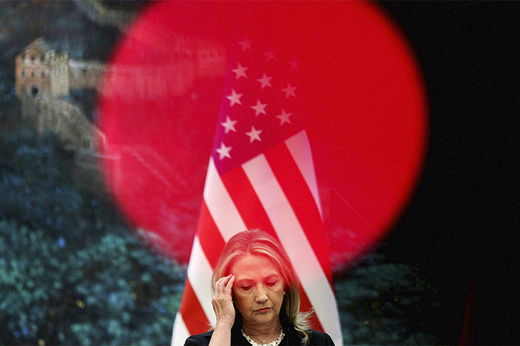 Hillary Clinton durante conferência no Grande Salão do Povo, em Pequim, China - 05/09/2012