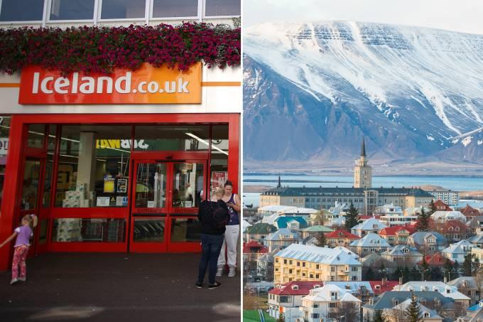 Loja Iceland e Islândia