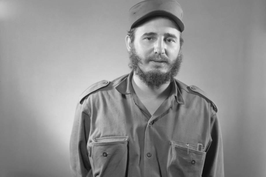 Fidel Castro em retrato feito logo após a derrubada do governo liderado pelo presidente Fulgencio Batista em 1959