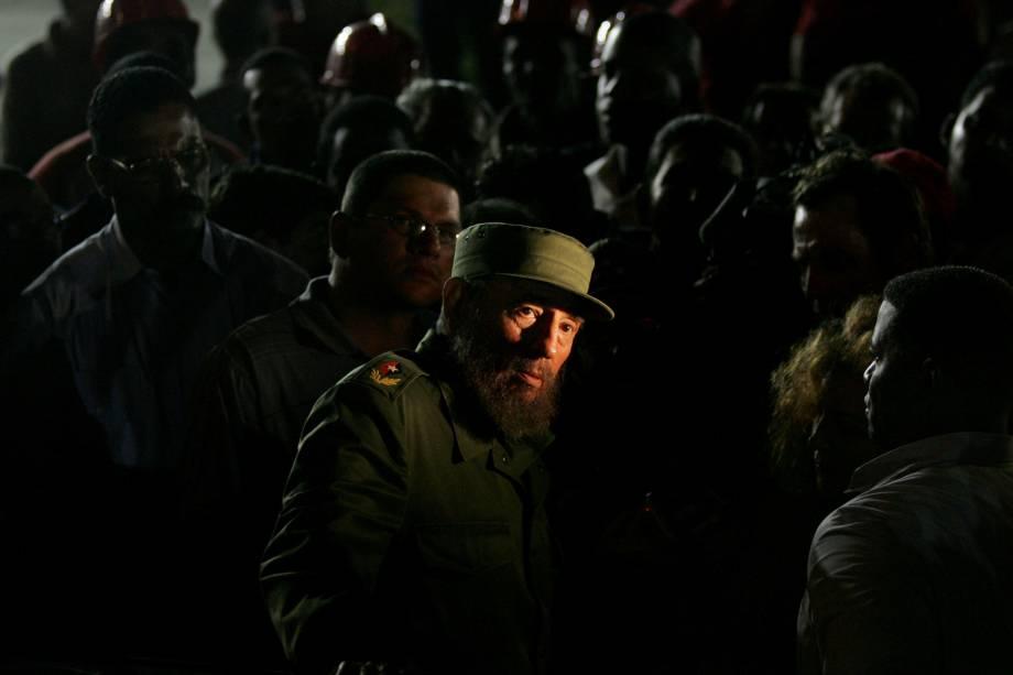 Fidel Castro fotografado durante missão diplomática dos Estados Unidos em Havana em janeiro de 2006