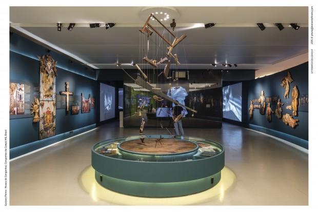Interior do Museu de Congonhas, de 3.500 metros quadrados