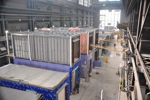 Estruturas modulares montadas no Brooklin para serem montadas no My Micro NY