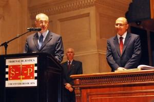 Nalini (esq.) e Alckmin: em nome do pai