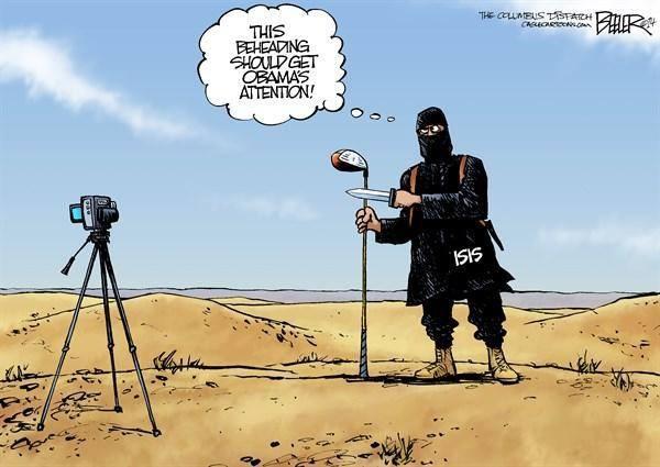 Obama golfe decapitação