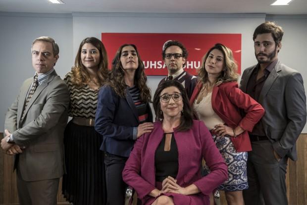 Elenco de 'Odeio Segundas' (Foto: Rachel Tanugi / Divulgação GNT)