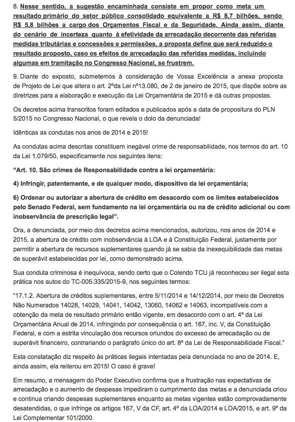 pedido impeachment decretos 2