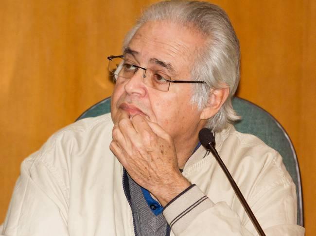 O Ex deputado Pedro Corrêa fala na CPI da Petrobras em Curitiba (Pr) na sede da Justiça Federal em Curitiba.