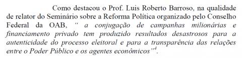 petição cita Barroso
