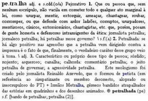 Petralha Dicionário