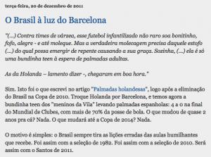 Profeta Pim 8 - O Brasil à luz do Barcelona