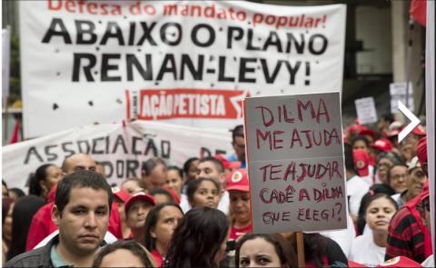 O protesto da mentira de meia-dúzia de gatos pingados: inventaram até um plano Levy-Renan (Foto:
