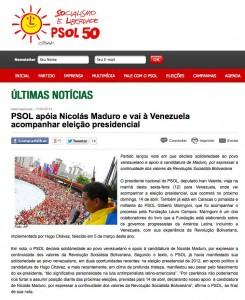 PSOL Maduro