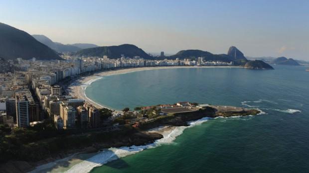 Vista aérea do Rio de Janeiro, onde o mercado imobiliário já reflete os impactos da crise (Foto Michael Regan/Getty Images/VEJA)