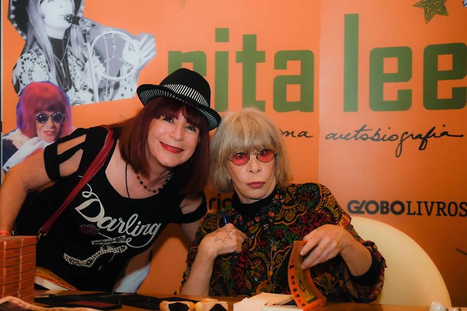 Marta e Rita Lee: Cover e artista reunidas em tarde de autógrafos