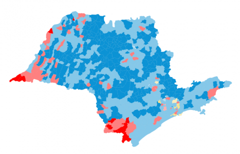 São Paulo azulou