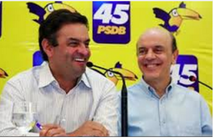 Aécio e Serra juntos, na campanha de 2010. Em 2014, a possibilidade da chapa puro-sangue