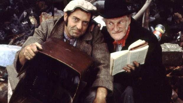 (E-D) Harry e Walter na versão original de 'Steptoe and Son'