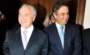 Michel Temer e Aécio Neves