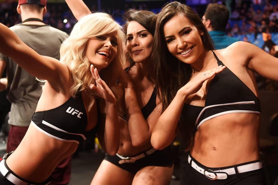 Ring girls durante o UFC Fight Night, realizado no Ginásio do Ibirapuera, em São Paulo (SP) - 19/11/2016