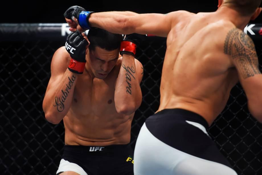Cézar Mutante enfrenta Jack Hermansson, na última luta do card preliminar do UFC Fight Night, no Ginásio do Ibirapuera, em São Paulo (SP)  - 19/11/2016