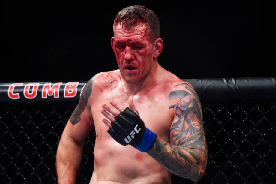 Luis Henrique KLB enfrenta Christian Colombo (foto), na terceira luta do card preliminar do UFC Fight Night, realizado no Ginásio do Ibirapuera, em São Paulo (SP) - 19/11/2016