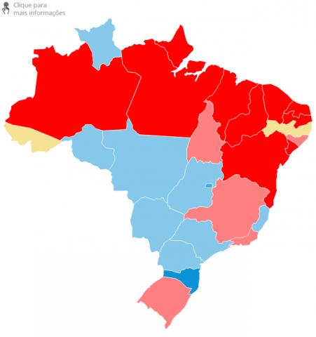 vitórias de candidatos estados