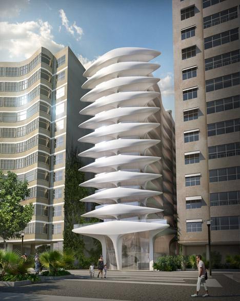 Projeção da Casa Atlântica, hotel de alto padrão concebido pelo empresário Omar Peres