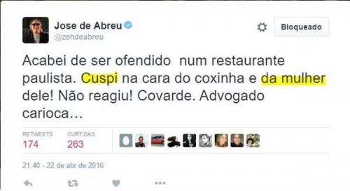 Zé de Abreu tuite