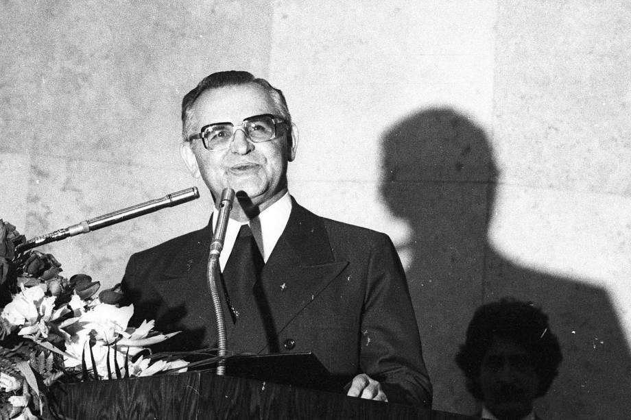 Dom Paulo Evaristo Arns recebe o t'ítulo de Cidad‹ão Paulistano - 14/03/1978