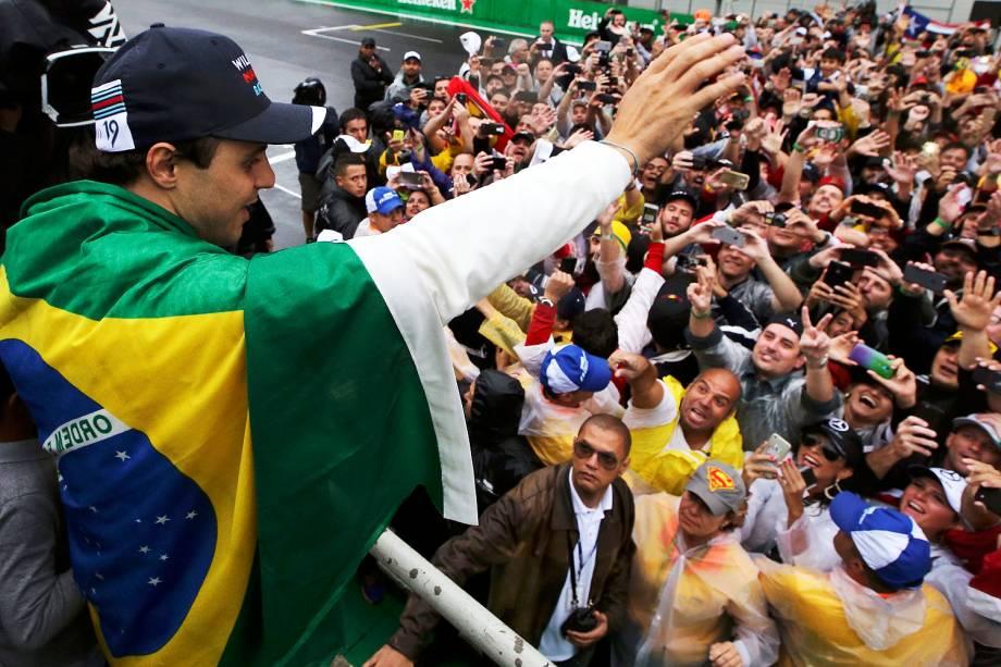 Felipe Massa em sua despedida do Autódromo de Interlagos - 13/11/2016
