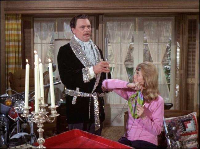 Bernard e Elizabeth Montgomery em 'A Feiticeira' (Foto: ABC/Arquivo)