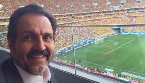 Agnelo: selfie no Mané Garrincha