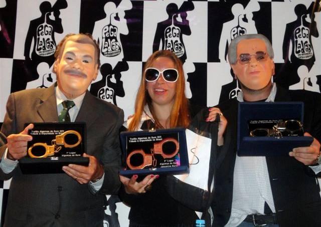 Algemas de Ouro 2011 – José Sarney, José Dirceu e Jaqueline Roriz