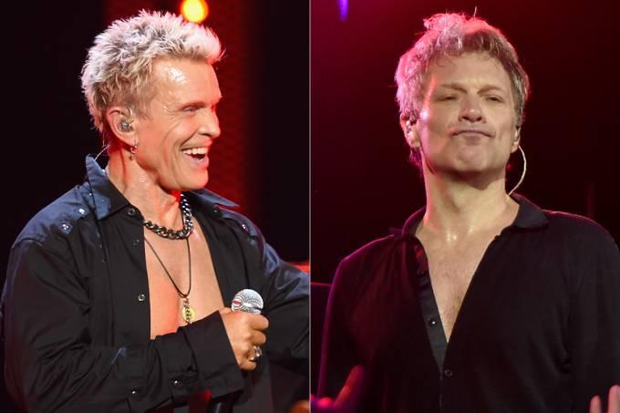 Artistas Billy Idol e Jon Bon Jovi
