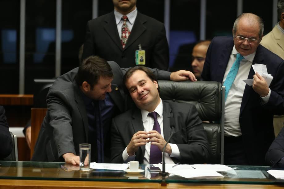 Presidente da Câmara dos Deputados, Rodrigo Maia, durante discussão das medidas de combate à corrupção em Brasília - 29/11/2016