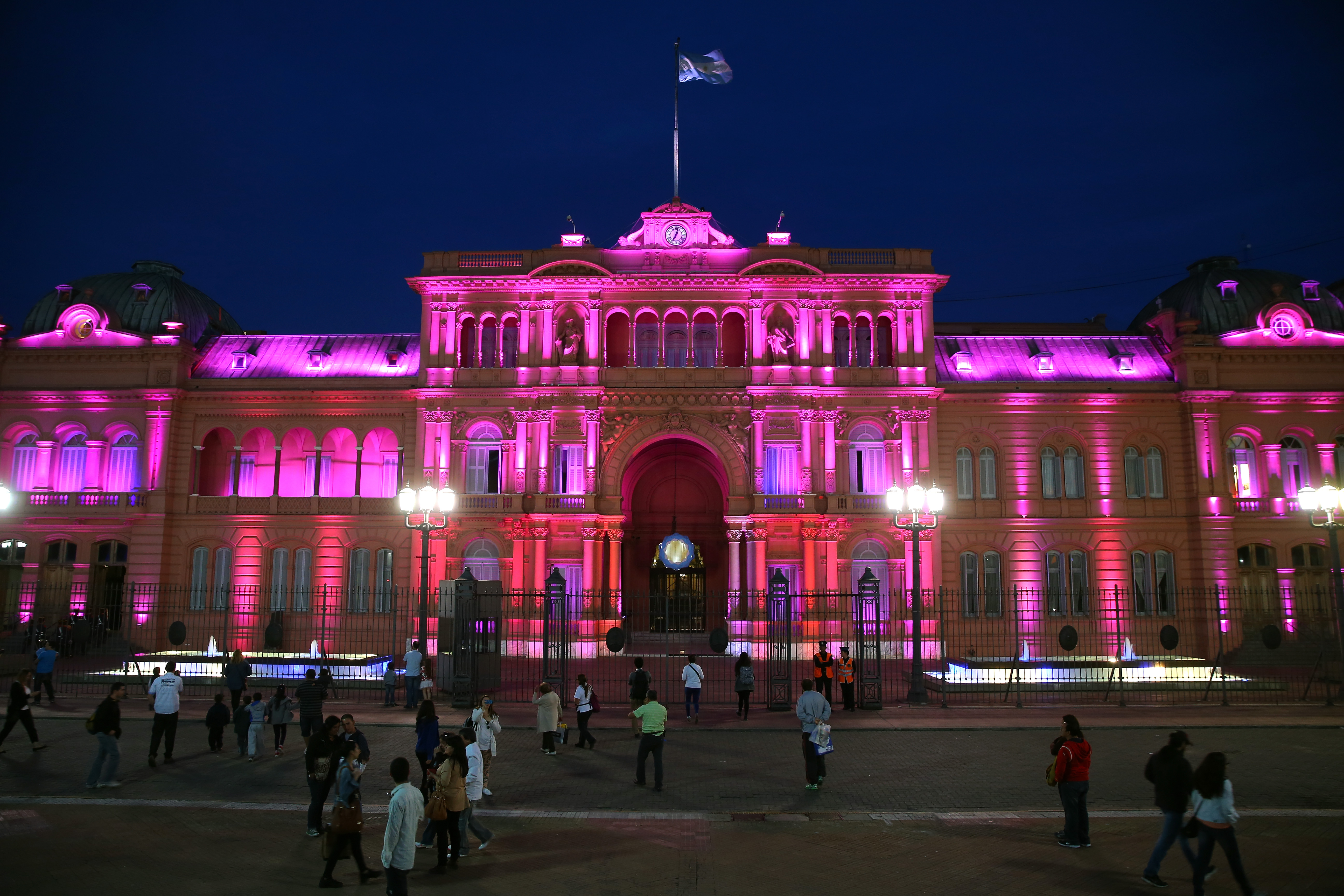 Casa Rosada, sede da presidência argentina.