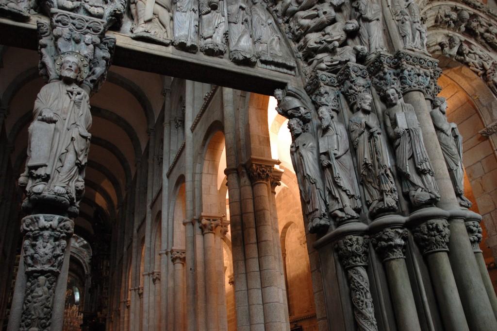 Detalhe da catedral galega dedicada ao santo: centro mundial de romaria