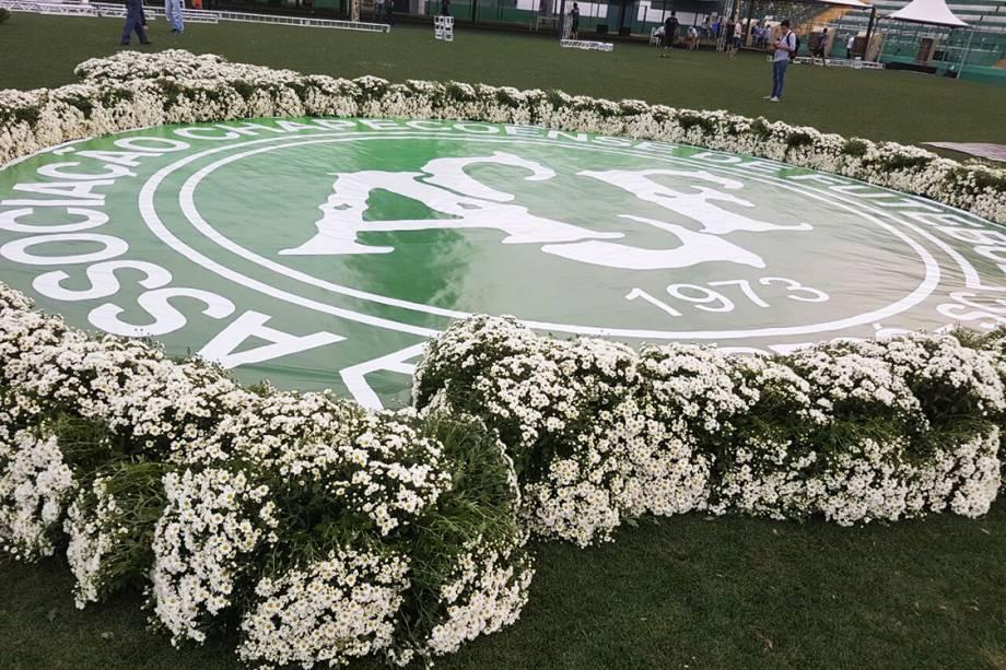 O velório dos jogadores da Chapecoense ocorreu na Arena Condá dias depois do acidente aéreo