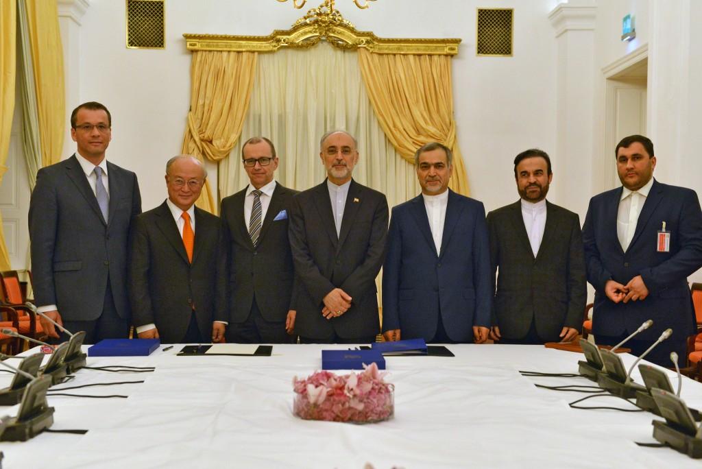 Reunião com iranianos na sede da Agência Internacional de Energia Atômica