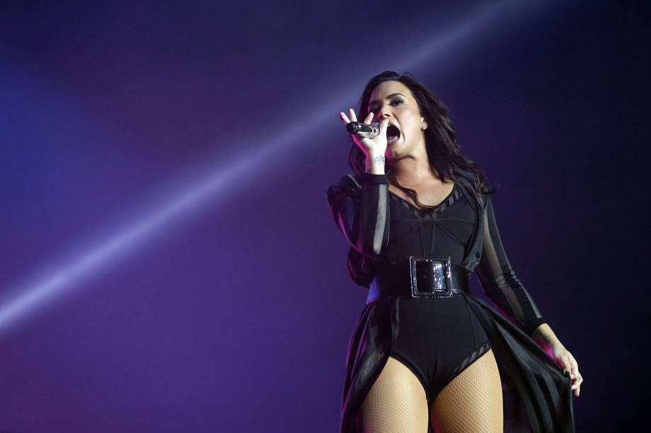 Demi Lovato se apresenta durante o Festival Z no Allianz Parque em São Paulo